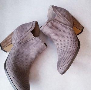 Crown Vintage gray suede slip on booties 8M